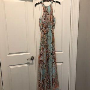 Jessica Simpson Cherry Blossom Maxi Dress Sz M